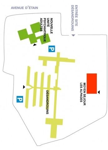 Les hôpitaux militaires américains en Lorraine. Plan_d10