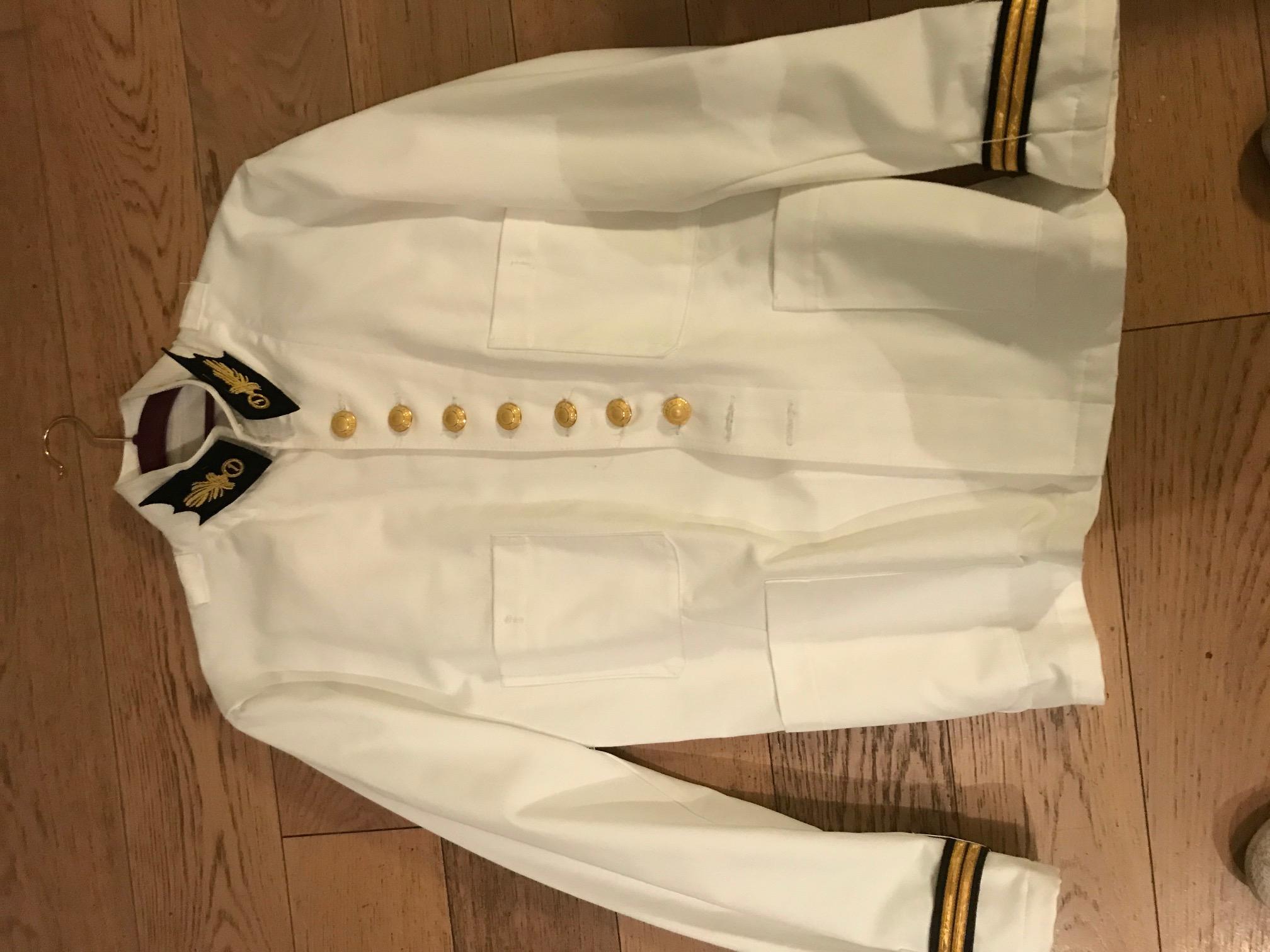 Veste blanche et dolman blanc légion étrangère. Rouet_10