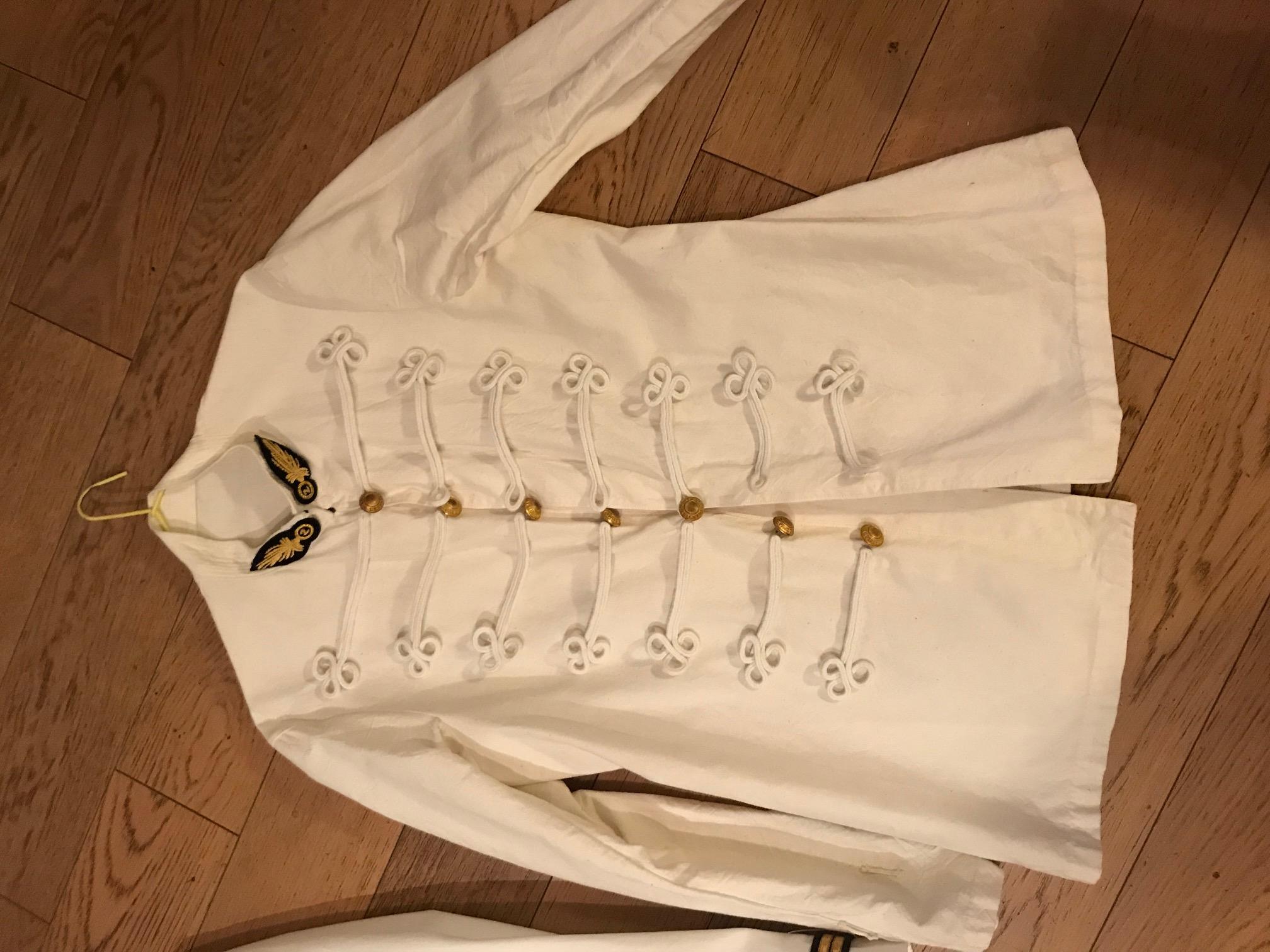 Veste blanche et dolman blanc légion étrangère. Rouet_11