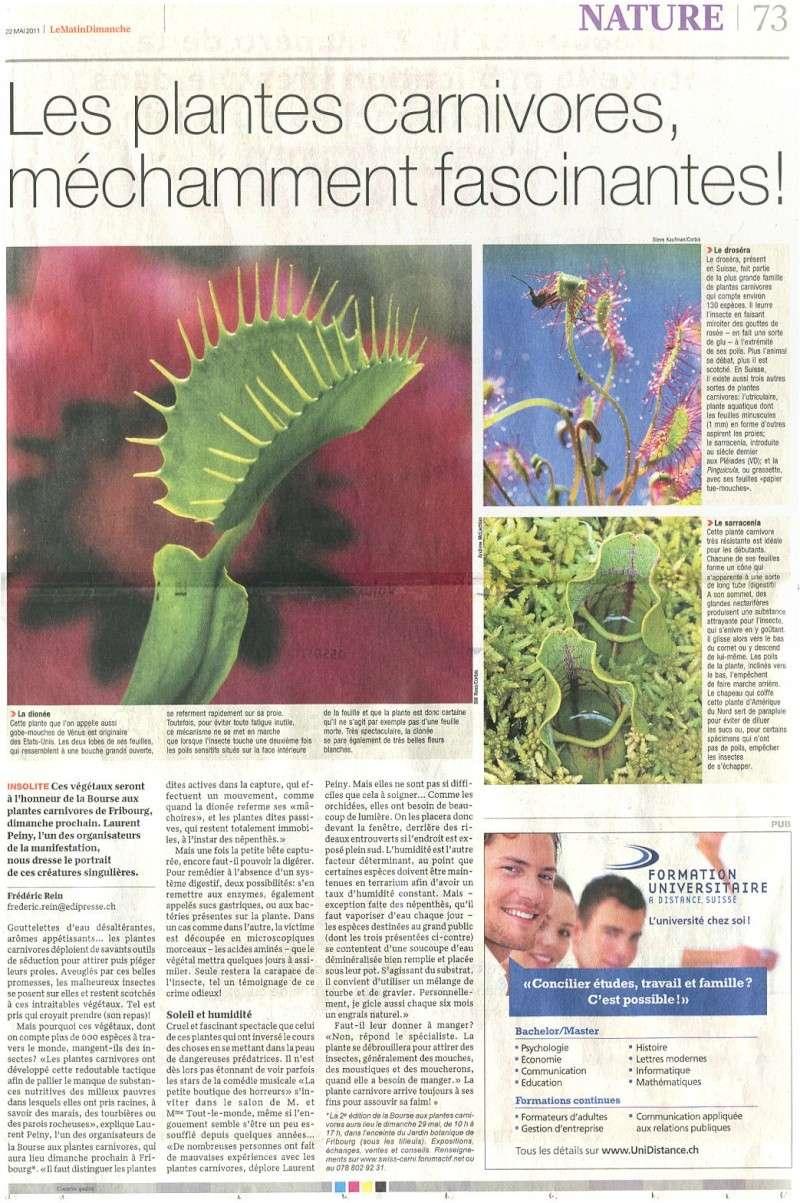 Le matin dimanche - 22 mai 2011 - Belles plantes carnivores  Matin_12