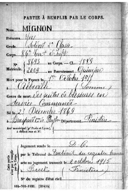 Mémorial des Braspartiates dans la Grande Guerre: 1915 - Page 2 112_yv10