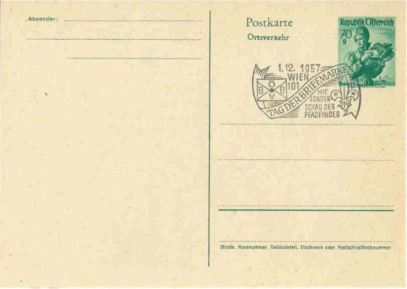 Sonderstempel Österreich, Thema Pfadfinder A008_a10