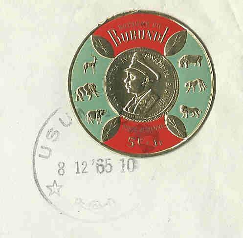 Runde Briefmarken Burund11