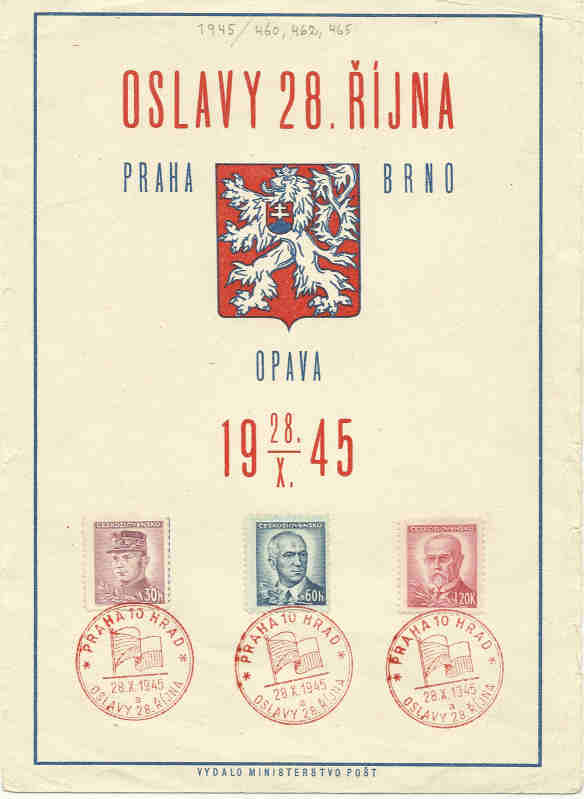 Sonderbelege aus der Tschechoslowakei Csr19410