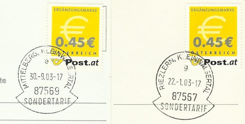 Österreich - Ergänzungsmarke  Erganz10