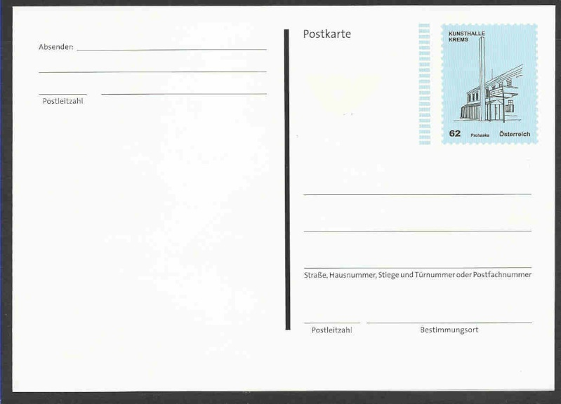 """Postkarte und Ganzsachenumschläge """"Kunsthäuser"""" Postka13"""