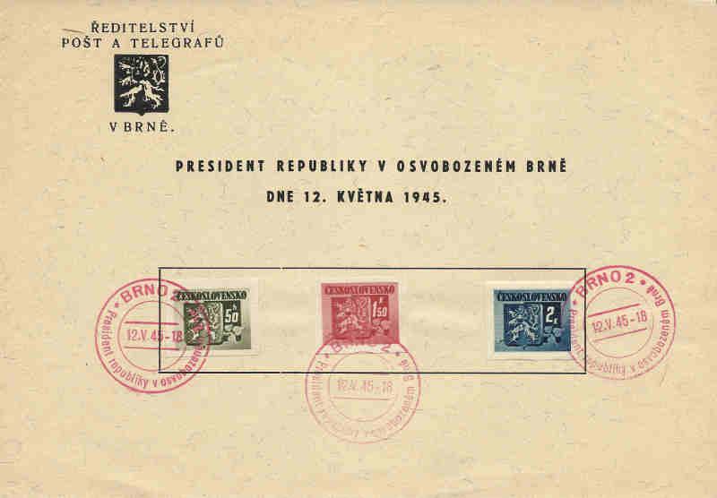 Sonderbelege aus der Tschechoslowakei Tschec10