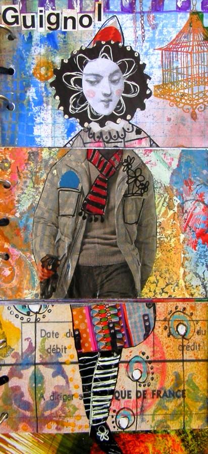 Nouvelle section - Art journal et Mixed media! Clown_10