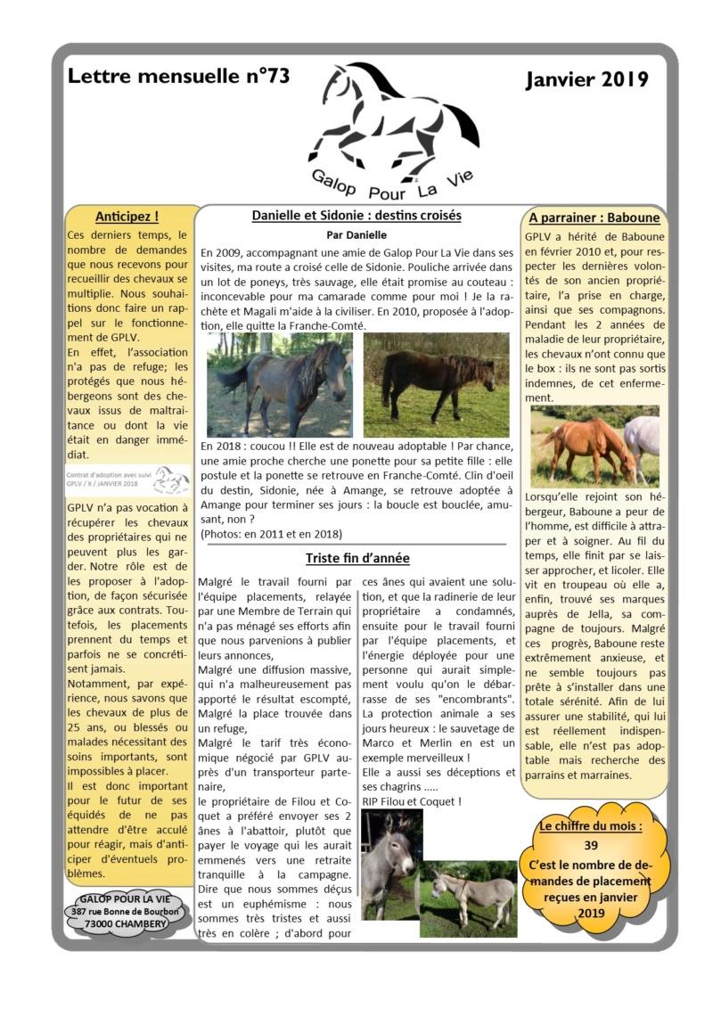 GPLV - Lettre Mensuelle n°73 - Janvier 2019 Nl_jan14