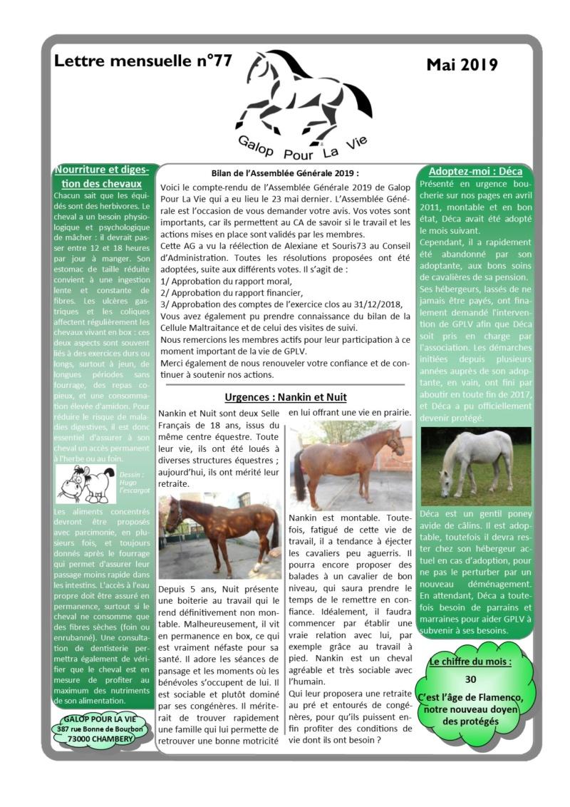 GPLV - Lettre Mensuelle n°77 - Mai 2019 Nl_mai14