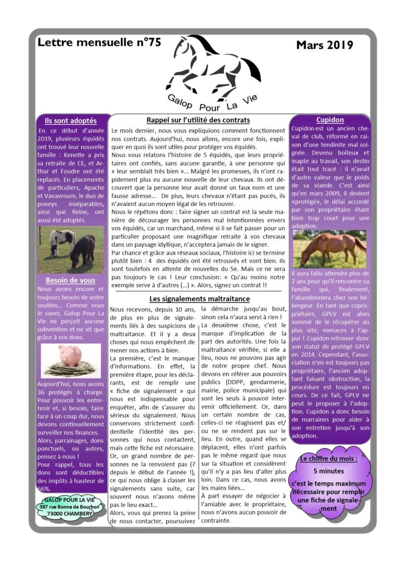 GPLV - Lettre Mensuelle n°75 - Mars 2019 Nl_mar16