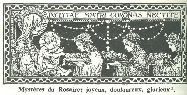 Pourquoi le Rosaire est divisé en trois parties, ou trois chapelets. Le_ros10