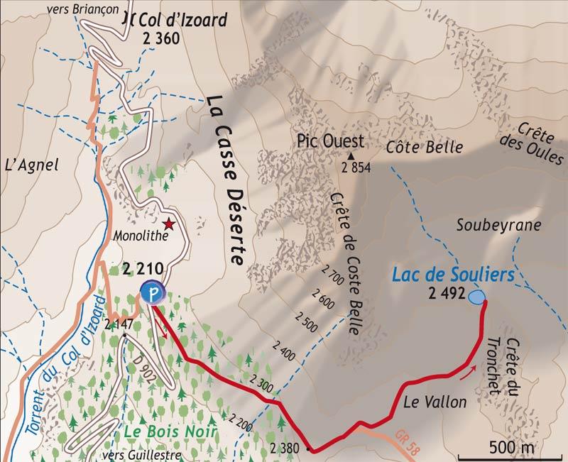 Au dessus du col d'Izoard (2361m) Carte_10