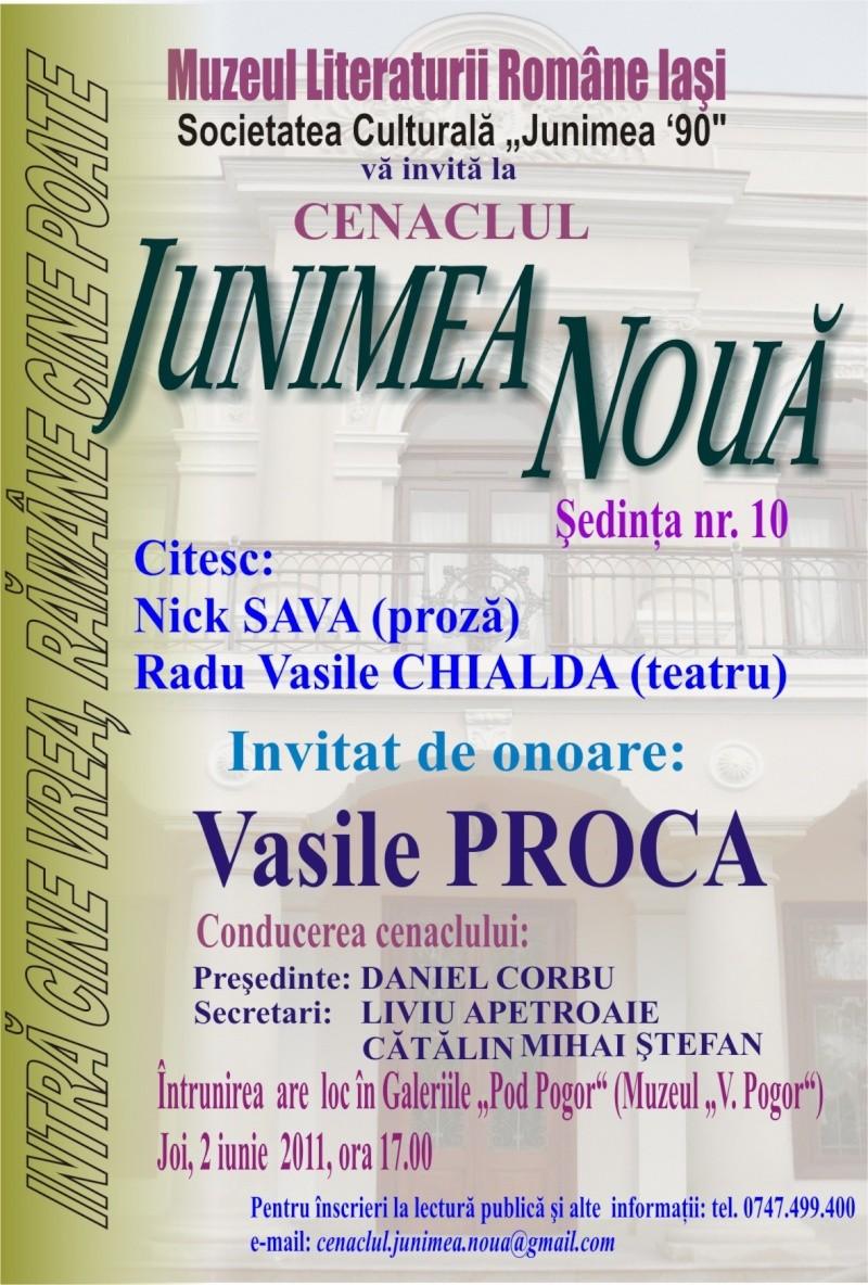 Cenaclul Junimea Noua-Sedinta Nr 10.Lectura publica-Liviu Apetroaie-02 iunie 2011 Afis_c10