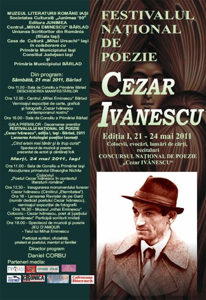"""FESTIVALUL NAŢIONAL DE POEZIE """"CEZAR IVĂNESCU""""-21 - 24 mai 2011 Clip_154"""