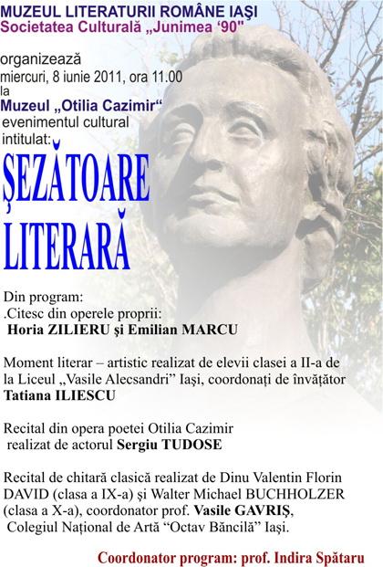 """""""Şezătoare Literară""""   la Muzeul """"Otilia Cazimir""""  Clip_338"""