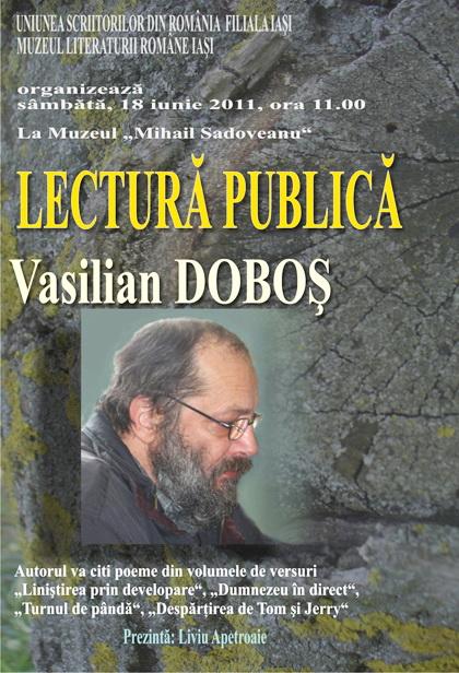 18 iunie 2011-Sedinta a XIV A Cenaclului U.P.-Lansare de carte Marioara Visan si Silvia Goteanschii,lectura publica Vasilian Dobos Clip_434