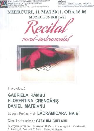 Recital Vocal Instrumental-11 mai- Muzeul Unirii -Iasi Clip_915