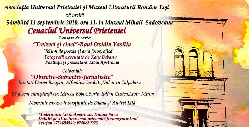 11 septembrie 2010 -Sedinta a V-a a Cenaclului U.P-Lansare de carte-Treizeci si cinci-Ovidiu Raul Vasiliu Invita10