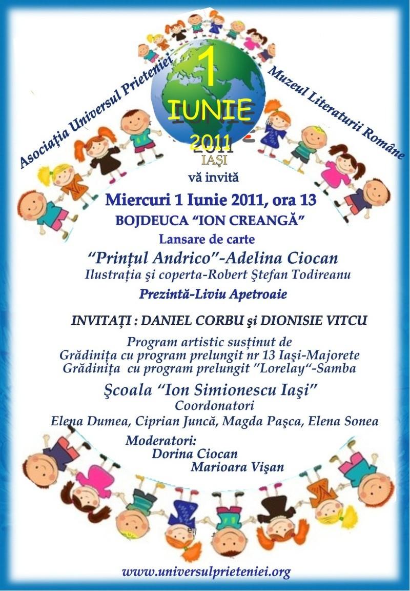 """Sărbătoarea Copilăriei-eveniment organizat de Asociatia Universul Prieteniei si Lansare de carte """"Printul Andrico""""-Adelina Ciocan-01 iunie 2011 Lansar98"""