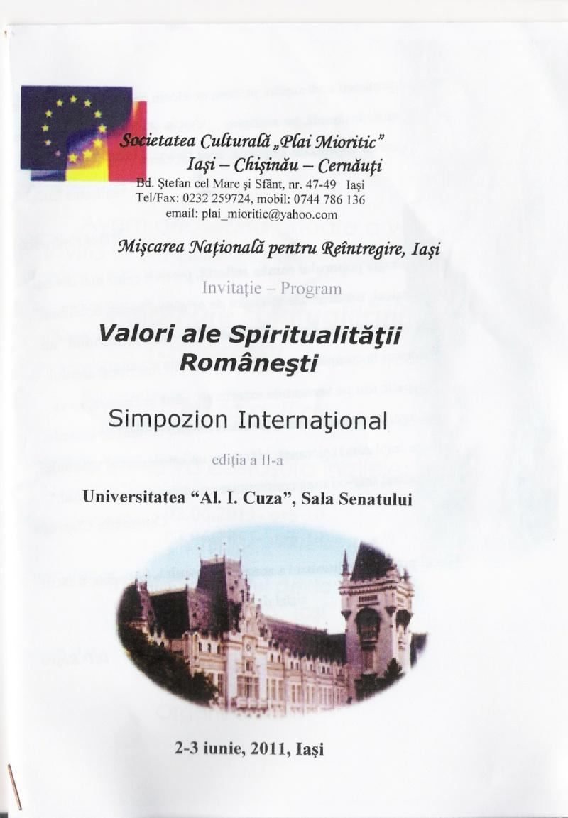 """ VALORI ALE SPIRITUALITĂȚII ROMÂNEȘTI""-Ediția a II-a-2/3 iunie 2011 Scan0018"