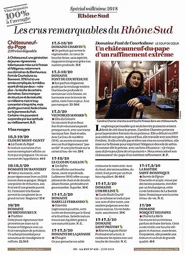 Châteauneuf du Pape 2016 selon la RVF Rvf_2011