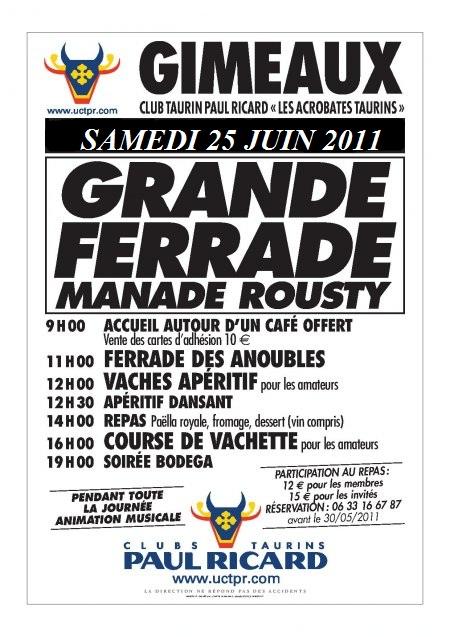 FERRADE SAMEDI 25 JUIN A LA MANADE DU ROUSTY !!! Ferrad11