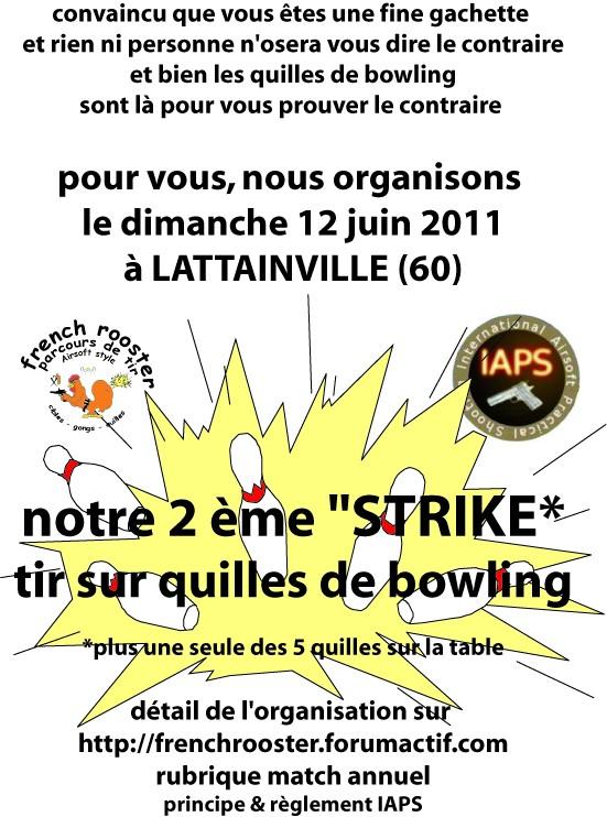 match de tir sur quilles de bowling pour juin 2011 Affich10