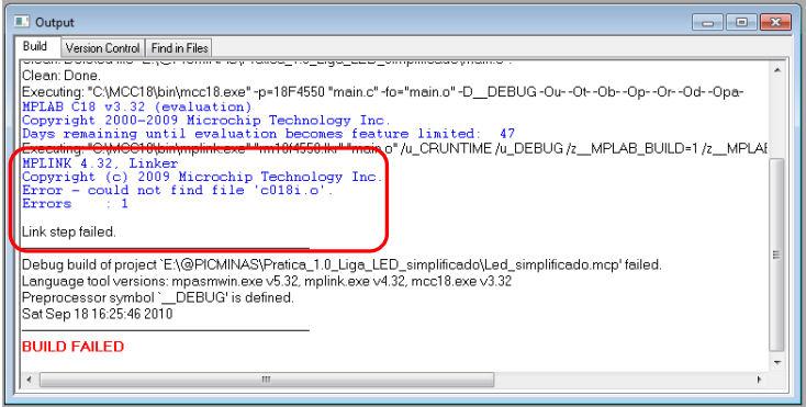 Problemas de compilação - Erro no linker - c018i.o T110