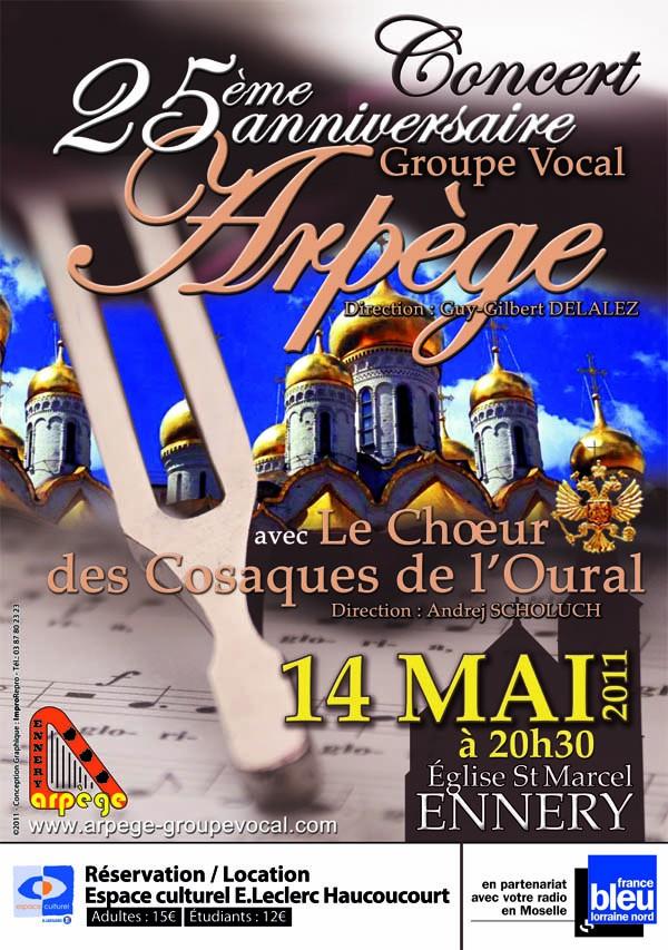 XXVème anniversaire du groupe vocal Arpège à Ennery le 14 mai 2011 Affich10