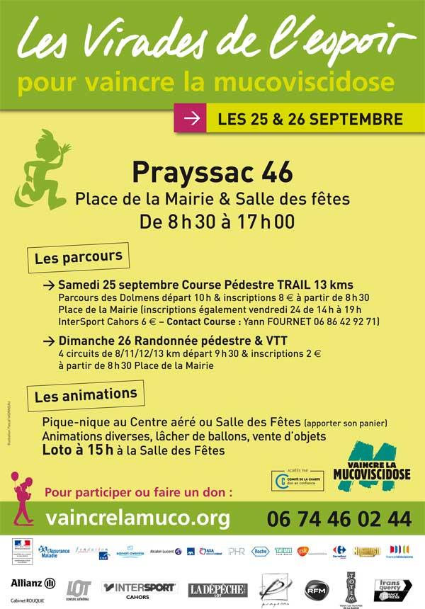 Les virades de l'espoir le 25 et 26 Septembre à Prayssac. Prayss11
