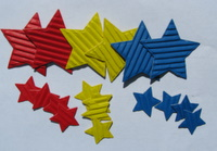Corrugated card stars Img_3324