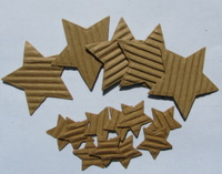 Corrugated card stars Img_3325