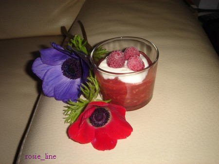 Compotée de rhubarbe framboisée, en verrine Dsc05710
