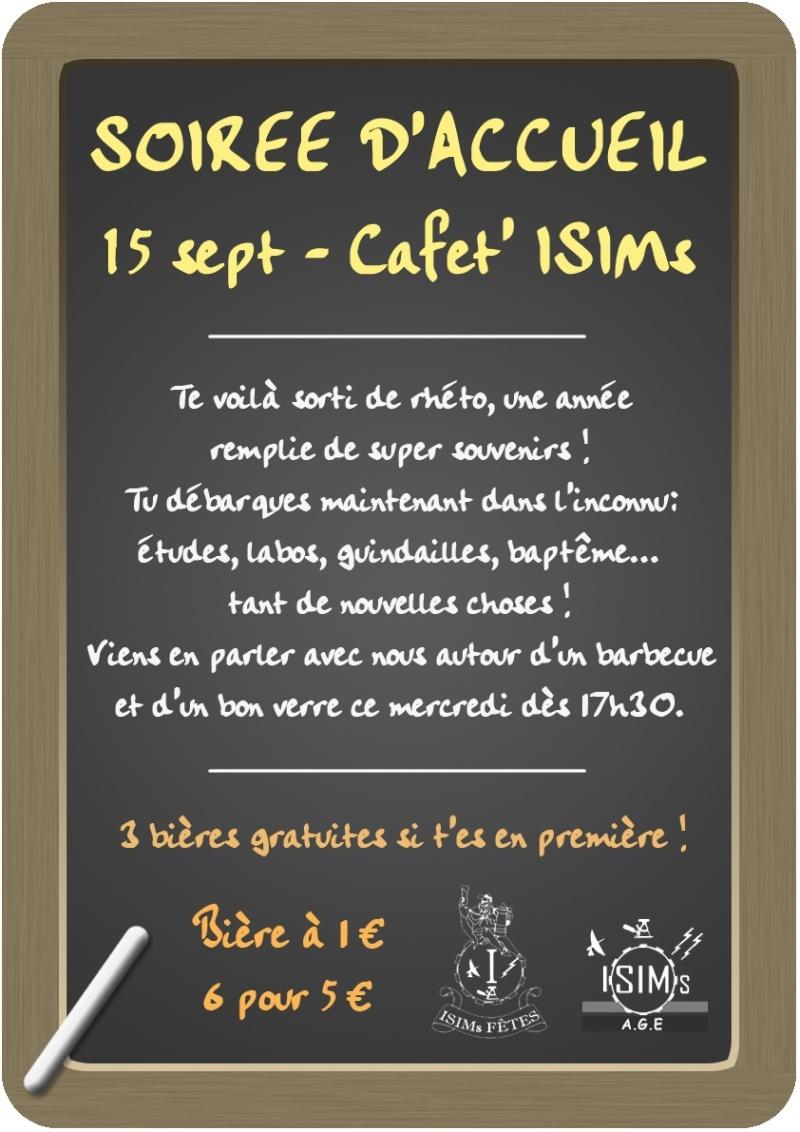 Soirée d'accueil @ ISIMs (15 septembre) Accuei11
