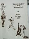 Confidences d'un marcheur du Paris-Colmar 1985 Hubert Pascal Confid10