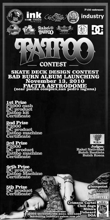 TATTOO,SKATE DECK DESIGN CONTEST AND BAD BURN ALBUM LAUNCH! 39516_10