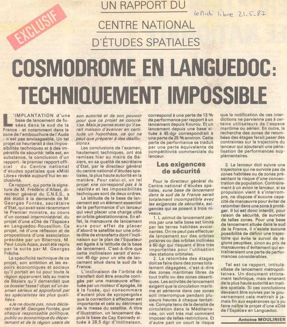 Cosmodrome du Languedoc 87052110