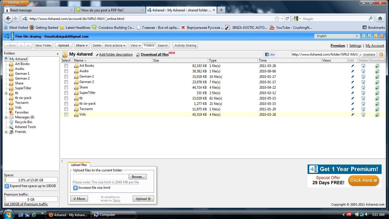 How do you post a PDF file? 4share12