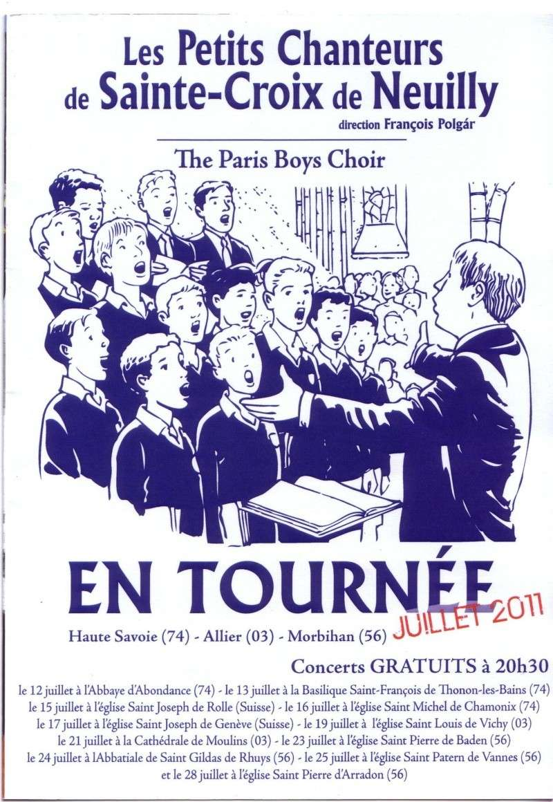 Les Petits Chanteurs de Sainte-Croix de Neuilly Progra10