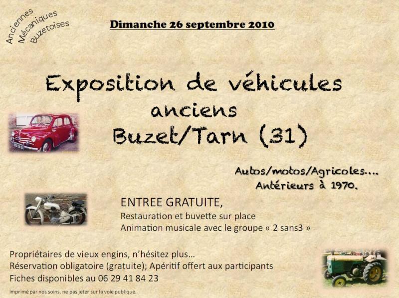 26/09/2010 Exposition de véhicules anciens à Buzet/Tarn (31) Affich11
