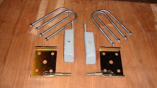 100e Steel lowering blocks/saddles & U bolts... _6110