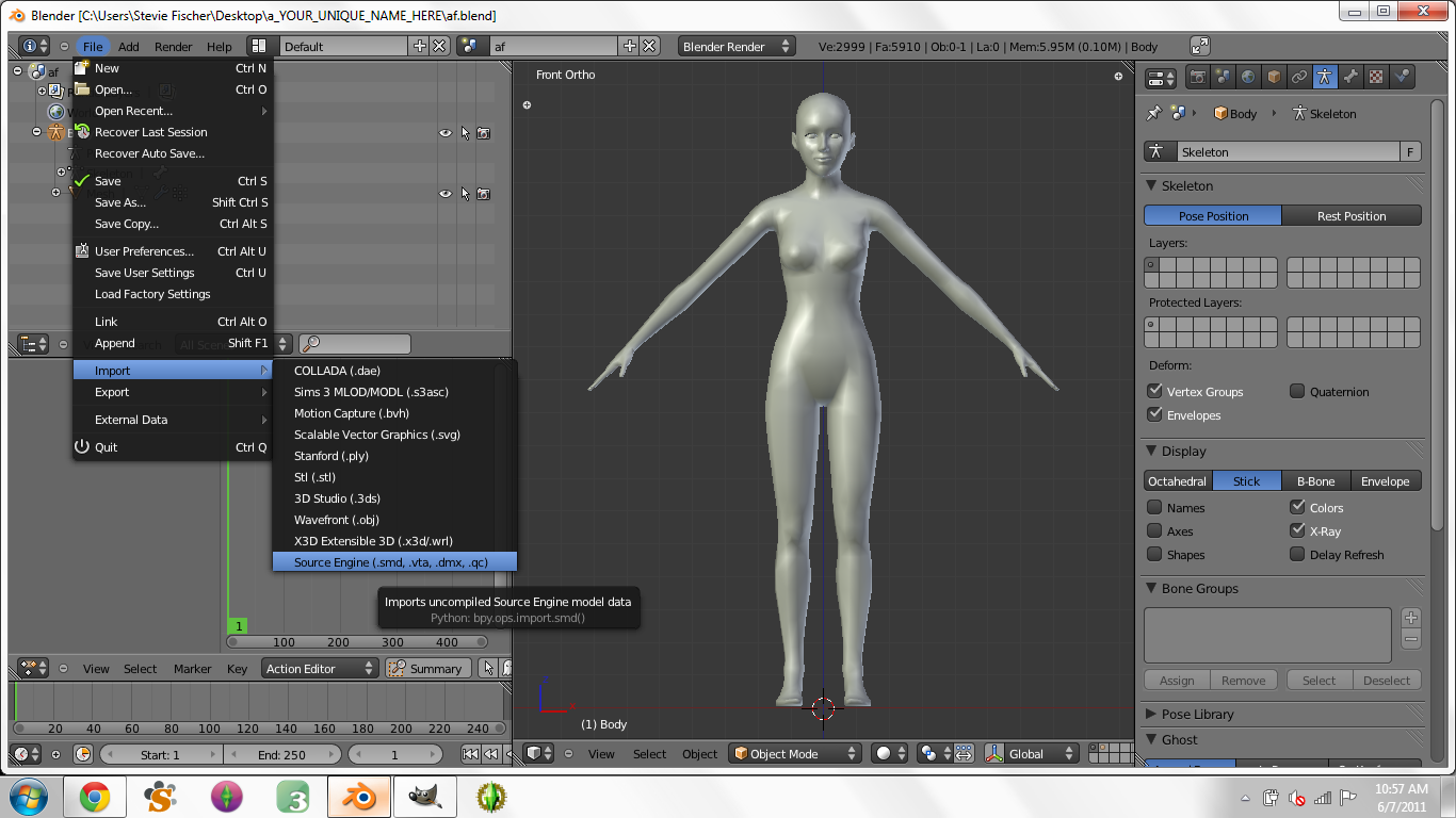 Creating Custom Poses in Blender for Dummies - Page 3 1410