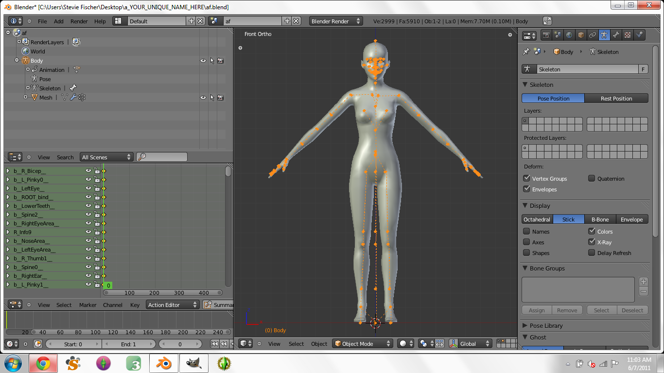 Creating Custom Poses in Blender for Dummies - Page 3 1610