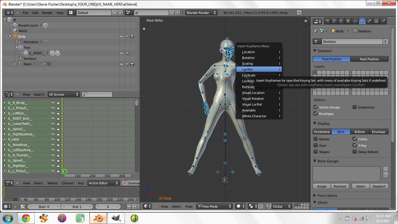 Creating Custom Poses in Blender for Dummies - Page 3 1910