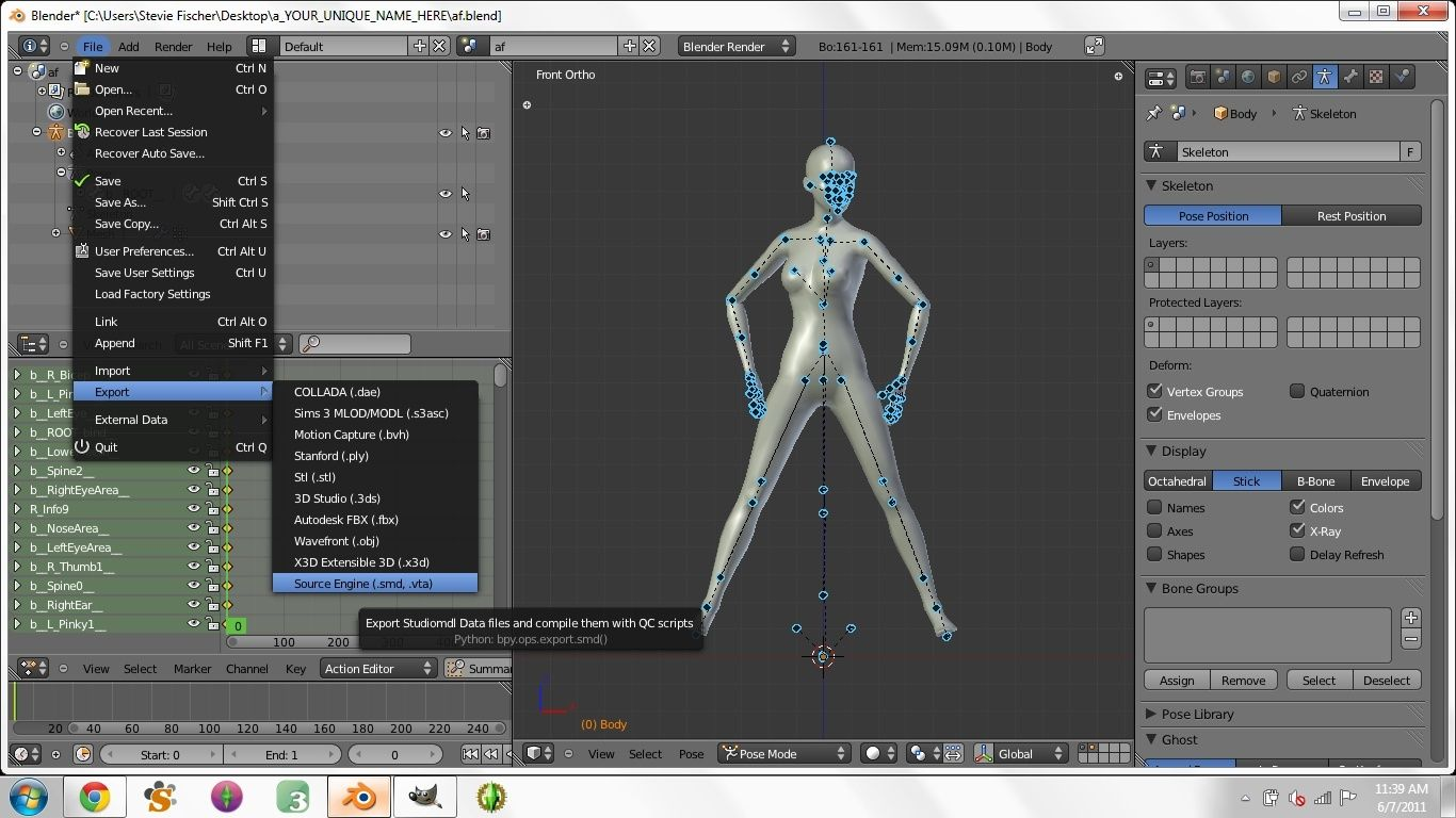 Creating Custom Poses in Blender for Dummies - Page 3 2010
