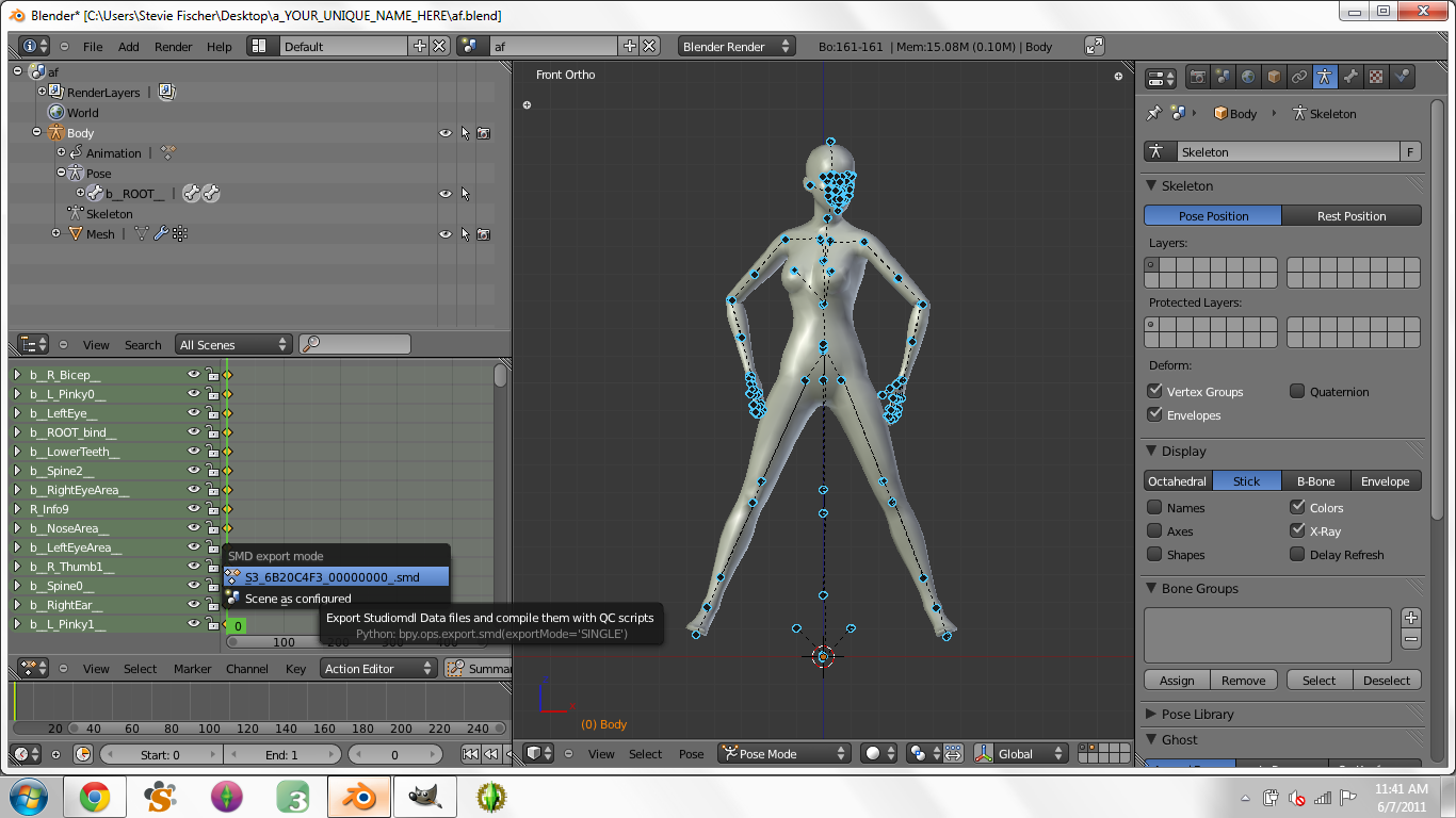 Creating Custom Poses in Blender for Dummies - Page 3 2110