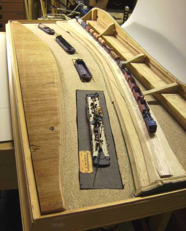 """Diorama """"Main-Kettenschlepper"""" von MB-Modellbau, 1:250 Bild5930"""