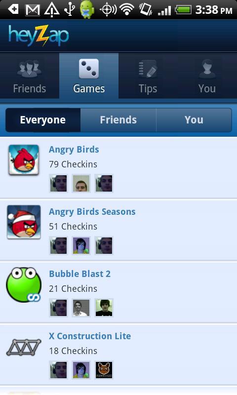 [SOFT] HEYZAP : Le social gaming sous Android [Gratuit] Games11