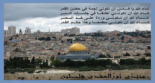 منتدى نور المهدى فلسطين